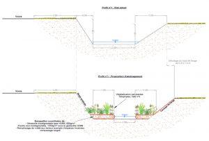 Création d'un lit mineur d'étiage en traversée de Ottonville – Ruisseau d'Ottonville