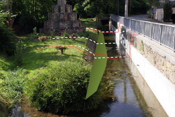 Simulation de banquette à implanter – Traversée de Hinckange – Ruisseau du Pâtural